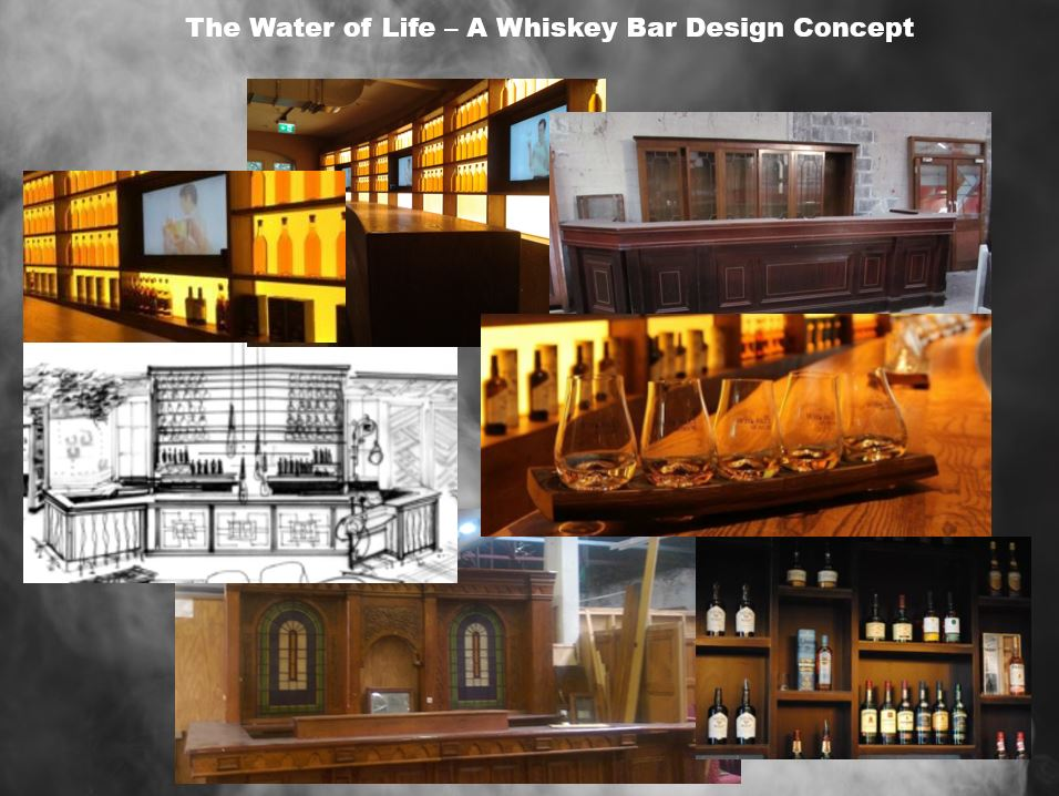 water fo life whiskey design concept